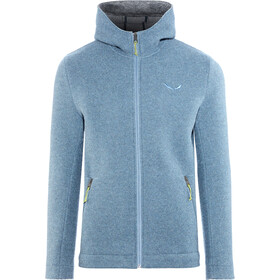 SALEWA Sarner 2 Layer Wool Full-Zip Hoodie Herren flint stone